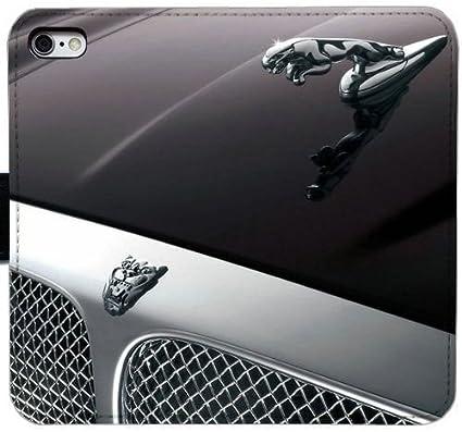 Generic Custom Flip Wallet Case Jaguar Car Logo Leather Case For