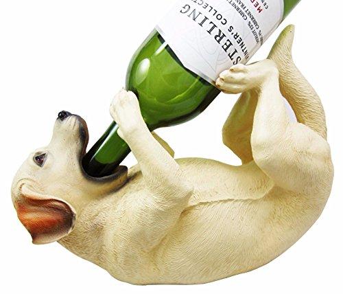 Kitchen Decor Golden Retriever Dog Wine Bottle Holder Figurine Statue (Dog Holder Wine)
