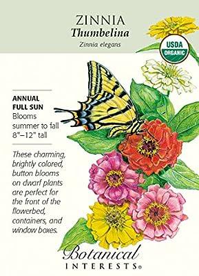 Organic Thumbelina Zinnia Seeds - 400 mg