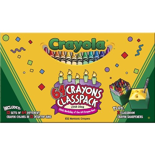 CRAYOLA LLC CRAYOLA CRAYONS 64 COLOR CLASSPACK (Set of 3) by Crayola