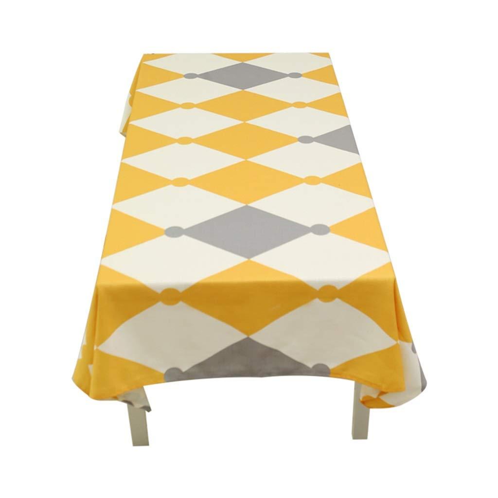 ラウンドテーブルクロス 長方形のテーブルクロスシンプルな家庭用ディナーテーブルクロスリビングルームレストランコーヒーテーブルデスククロス テーブルクロス (色 : A, サイズ さいず : 140*210cm) 140*210cm A B07RXXF6JC