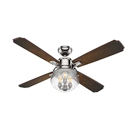 Hunter 59271 54 sophia ceiling fan with light with handheld remote hunter 59271 54quot sophia ceiling fan with light with handheld remote large polished aloadofball Images