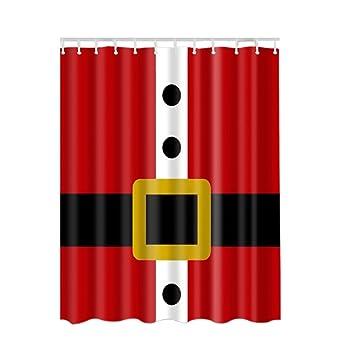 Marvelous Ochine Christmas Shower Curtain 180180cm 3D Print Bathroom Set Fabric Shower  Curtain Santa Claus Holiday Presents