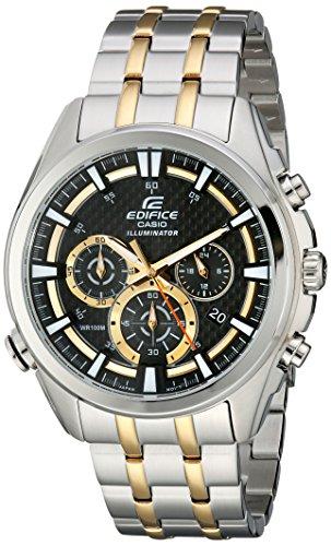 Casio Men's EFR-537SG-1AVCF Neon Illuminator Two-Tone Stainless Steel Watch