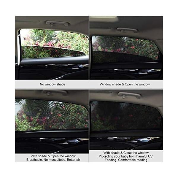Depory Tendine Parasole Auto Finestrino Laterale per Bambini Universali parasole auto bambini dell'Auto Block Raggi UV… 3 spesavip