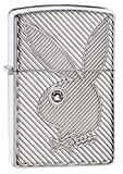 Zippo Armor Playboy Bunny Crystal Pocket Lighter, High Polish Chrome