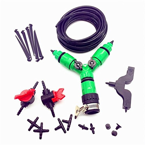- CHOME NEW Watering Kits,Patio Plant Watering Kit,Garden Drip Irrigation System, Misting Cooling System,Saving Water Automatic Irrigation Equipment Set Garden Greenhouse, Flower Bed,Patio,Lawn