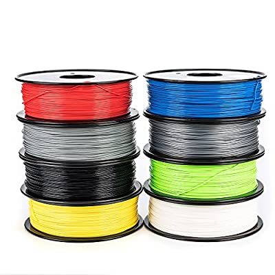 EASYY 3D Filament PLA Hight Quality 1.75mm 1KG/spool Dimensional Accuracy ±0.03mm Compatible for Universal 3D Printing (Red)