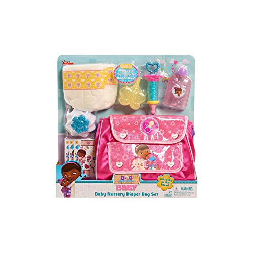 NEW! Disney Junior - Doc McStuffins Baby Checkup Diaper Bag Playset 10 Pieces - Just Like in the Show!