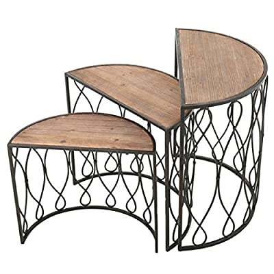 Christopher Knight Home Marseille 3-piece Rustic Nesting Table Set