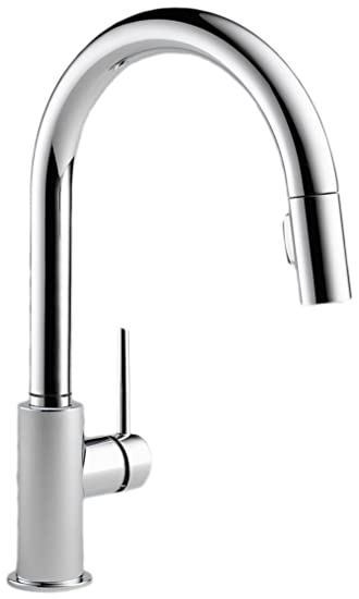 delta faucet. Delta Faucet 9159 DST Trinsic Single Handle Pull Down Kitchen with  Magnetic Docking