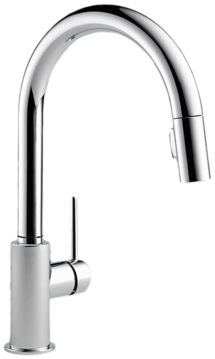 Delta Faucet 9159-DST Trinsic Single Handle Pull-Down Kitchen ...