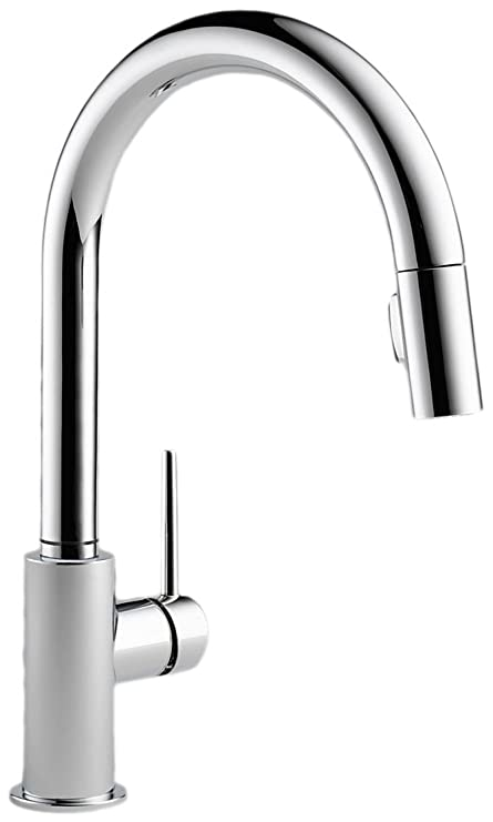 Delta 9159 DST Trinsic Single Handle Lever KitchenPullDown Faucet With  Magnetic Docking Spray Head Chrome