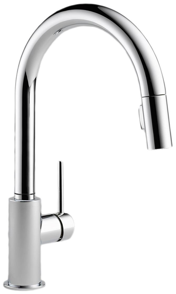 Delta Faucet 9159-DST Trinsic Single Handle Pull-Down Kitchen Faucet with Magnetic Docking, Chrome