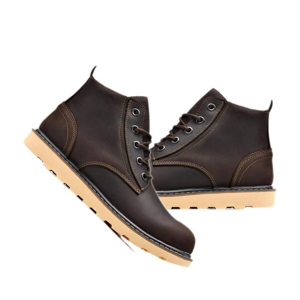 GZZ Schuhe Herren Stiefel Martin Herbst Und Winter Winter Winter Im Freien Retro Werkzeugausstattung Lederstiefel Rutschfeste High-Top Schuhe,Dark-braun-41 f26881