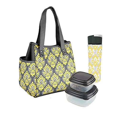 fit-fresh-ladies-westerly-insulated-lunch-bag-set-with-reusable-containers-and-20-oz-matching-water-