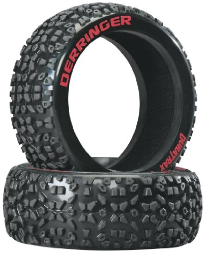 Duratrax Derringer 1:8 Scale RC Buggy Tires with Foam Inserts, C2 Soft Compound, Unmounted (Set of 2)