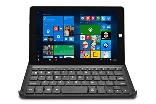 Ematic 8-inch Windows 10, HD Quad-Core 32GB Tablet with WiFi Intel and Docking Keyboard, Black