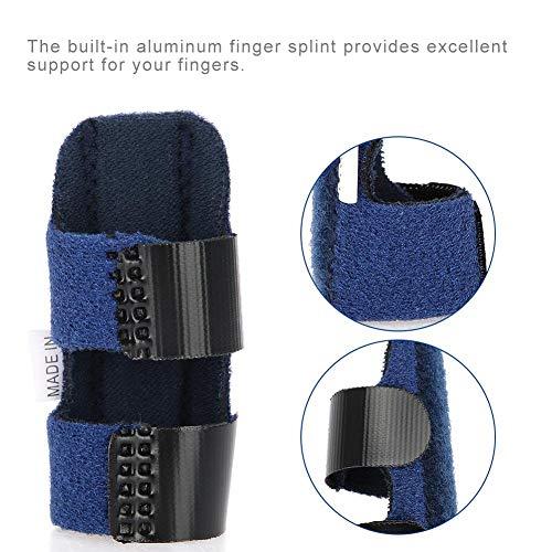 Einstellbare Schmerzlinderung Trigger Finger Fixing Splint Straightening Brace Corrector Unterstützung für Fingersteifheit, Arthrose, verstauchte Knöchel Schmerzlinderung(Blau)