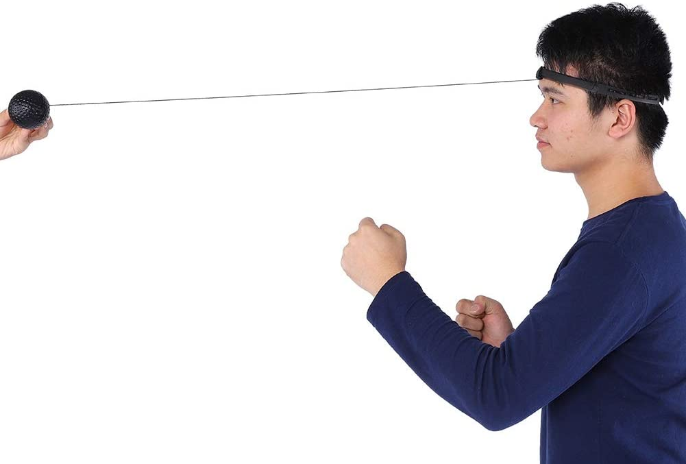 Fight Ball Reflex on String con Diadema Boxing Punch Bolsa de Ejercicio Pelota de Boxeo Mejorada Reflex Ball Durable para Entrenamiento de Velocidad de Reflejos