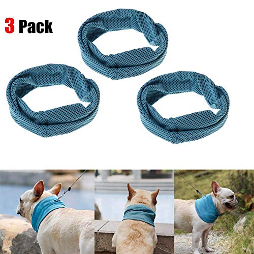 3 Pack Collar Dog Cooling Bandana Dog Instant Cooling Scarf Summer Pet Bandana Cats Collar Ice Towels for Bulldog (Cat Ice Collar)