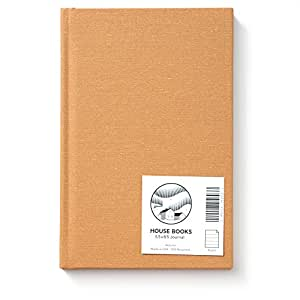 HOUSE Hardcover Journal; American Made, 30% Recycled, Ruled, 5.5 x 8.5, 136 Pages (Autumn Linen)