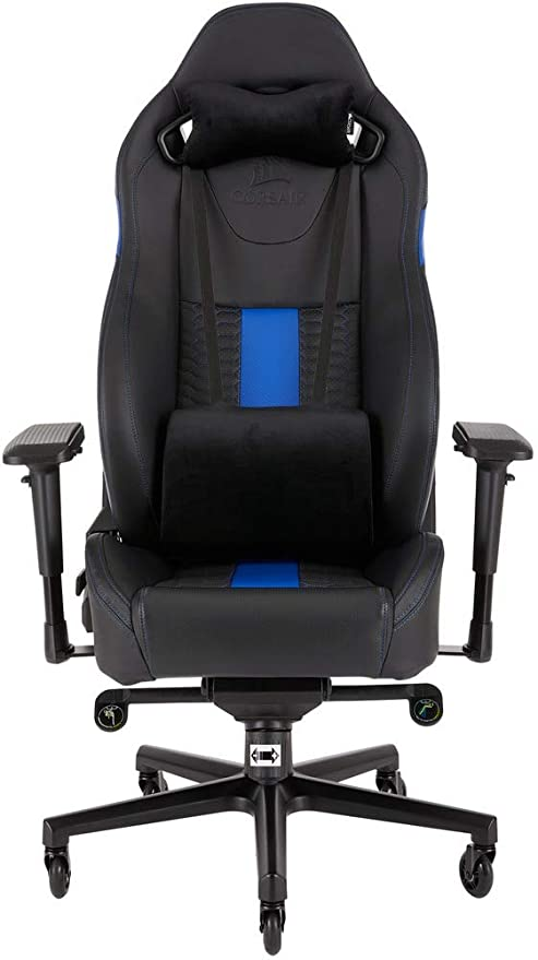 Fantastic Corsair T2 Road Warrior Faux Leather Gaming Office Chair Easy Assembly Ergonomic Swivel Adjustable Height And 4D Armrests Comfortable Wide Seat Pdpeps Interior Chair Design Pdpepsorg
