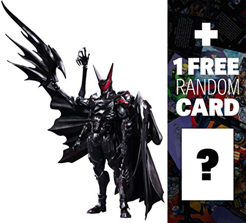 "Price comparison product image Batman (Tetsuya Nomura Version): ~11"" Square x DC Comics Variant Play Arts Kai + 1 FREE Official DC Trading Card Bundle"