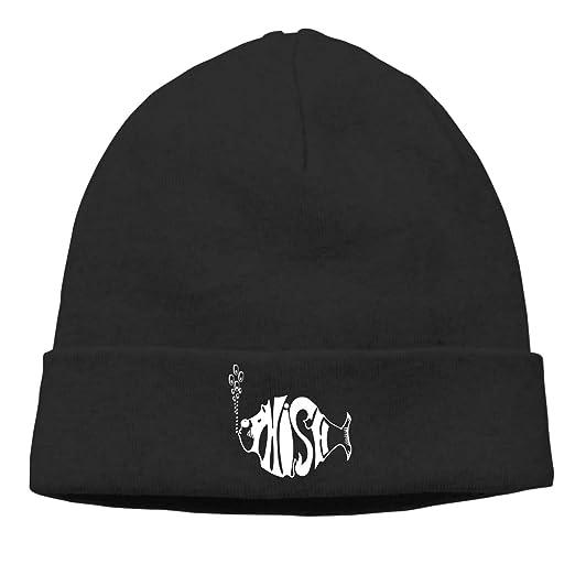 f4d6e030084 Amazon.com  Women s Men s Knitted Hat Phish Logo Cap Female Headscarf Hat  Black  Clothing