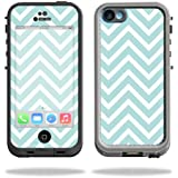 Mightyskins Protective Vinyl Skin Decal Cover for LifeProof iPhone 5C Case fre Case wrap sticker skins Aqua Chevron
