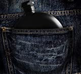 #siamese - 5oz Round Hashtag Drinking Alcohol Flask, Matte Black