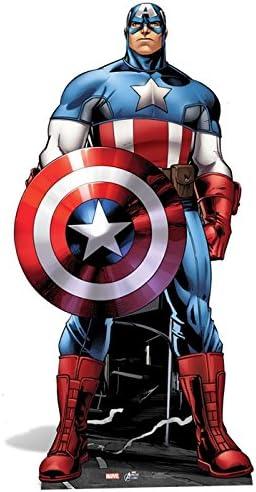Avengers Marvel Capitán América cartón recortable - 1,77 m: Amazon ...