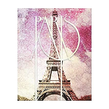 cd232bee5b8 Image Unavailable. Image not available for. Color  Girly pink purple damask Eiffel  Tower Paris Canvas Wall Art For Home Decoration ...