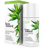 InstaNatural Eye Gel Cream - Wrinkle, Dark Circle, Fine Line & Redness Reducer - Pure & Organic Anti Aging Blend for Men & Women with Hyaluronic Acid - Fight Bags & Lift Skin Under Eyes - 1.7 OZ
