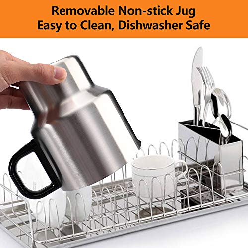 Revelux Milk Frother- 24oz Large Milk Frother Electric,Easy Clean Stainless Steel Jug, Cold and Hot Milk Frother, Dishwasher Safe, Automatic Milk Frother for Coffee, Cappuccino, Latte, Almond, Hot Chocolate, Matcha by Revelux (Image #4)