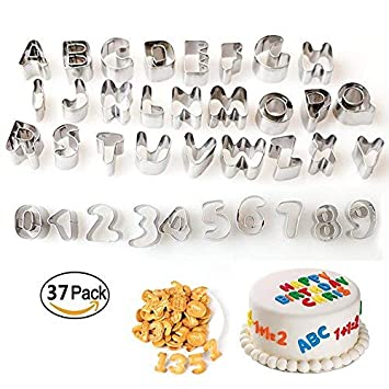 Lezed Letras Cortador Galletas Alphabet Cookie Cutter cortadores Galleta Moldes Galletas Molde Galletas Cortador de Tarta