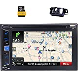 EinCar Wince Double Din Audio,Touchscreen,Bluetooth,GPS Sat Navi, DVD/CD/MP3/USB/Dual SD AM/FM RDS Radio Car Stereo, 6.2 Digital LCD Monitor, Wireless Remote,Rear Camera Included,Subwoofer
