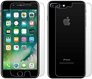 Screen Protector Compatible for iPhone 8 Plus iPhone 7 Plus Front Back Tempered Glass Screen Protector Anti Scratch HD Clear Front Back Screen Protector (5.5