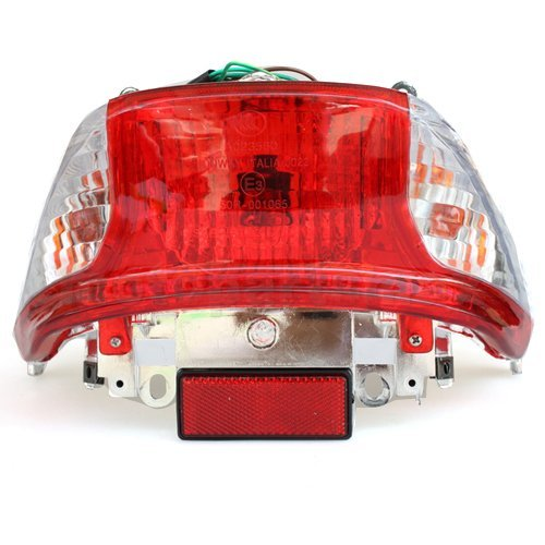 (Tail Light Assembly for GY6 50cc 150 cc 6Pin connector 5 wires and 2 pin connector 2 wires Scooters Moped Roketa Taotao Jonway NST Tank Znen Baron)
