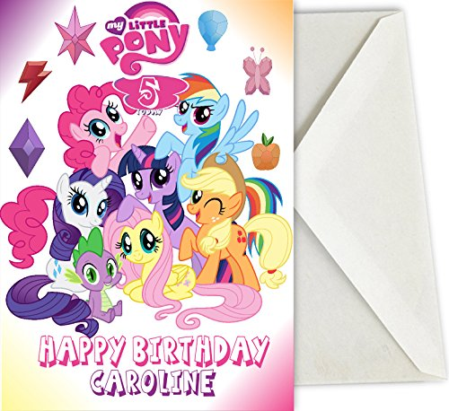 photo relating to My Little Pony Printable Birthday Cards named Personalized Birthday Card for youngsters Impressed by way of My Minor Pony A5 with Totally free envelope