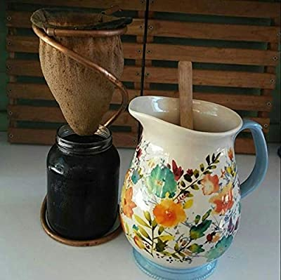 Cold Brew Coffee Sock Drip Stand with Reusable Strainer