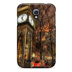 High Quality Shock Absorbing Case For Galaxy S4-city Street In Canada In The Rain Hdr