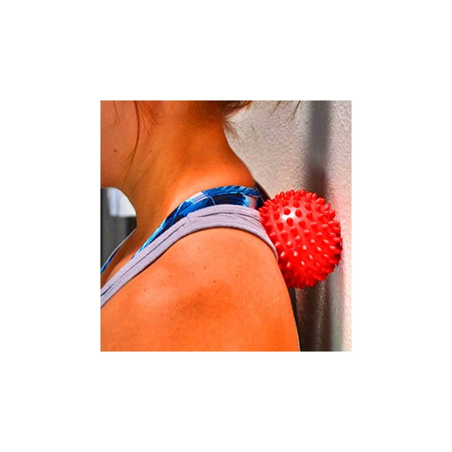 Jaguarro Fitness Experts Spiky Massage Ball Ideal Spike Ball for Deep Tissue Back Massage, Foot Massager, Plantar Fasciitis Pain Relief, Myofascial Release Compact Muscle Roller