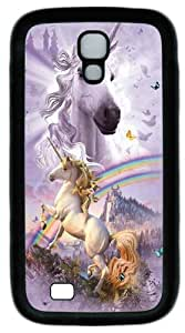 Samsung Galaxy I9500 Cases & Covers -Double Rainbow Unicorn TPU Silicone Rubber Case Cover for Samsung Galaxy S4 and Samsung Galaxy I9500 ¡§C Black