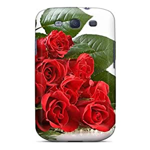 Awesome TLz4837dIBu AmacaAcc Defender Tpu Hard Case Cover For Galaxy S3- Red Roses