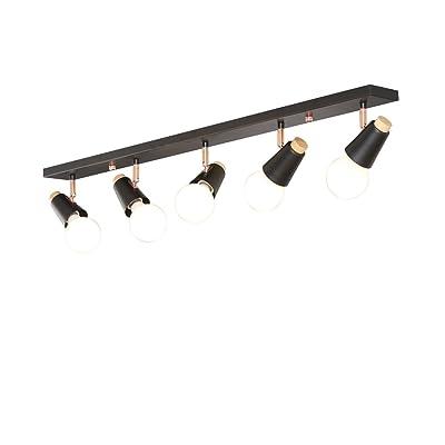 Plafonnier Applique nordique Style Bois massif Lampes de Plafond Restaurant Cuisine Chambre Boutique Bois massif LED 5 chef Lampes de Plafond