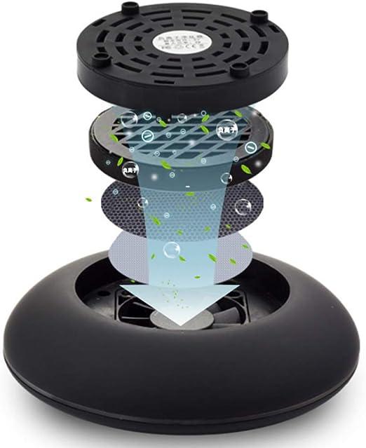 BSJZ Purificador del Aire De Coche Portátil Ionizador De Aire Mini Purificador para Coche, Filtro De Aire De Polvo para Eliminar Y Quitar Olores, Bacterias, Tabaco Negro: Amazon.es: Hogar