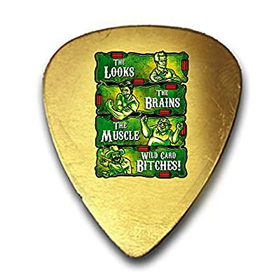 The Philly Crew Parody TV Show Design 3D Color Printed Guitar and Bass Pick Gift Brass