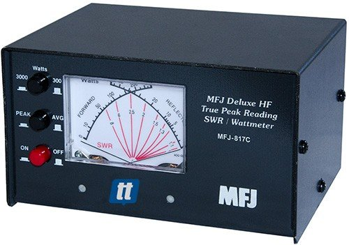 MFJ Enterprises Original MFJ-817C Deluxe VHF/UHF True Peak 144/220/440 MHz  Cross Needle SWR/Power Meter