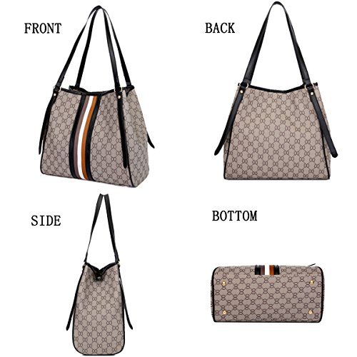 Bags for Daypack Lady Set Leather Fashion Scratch Resistant Brown Cb Tote Casual Women Synthetic Waterproof Handbags wqFR0xP
